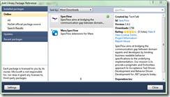 Instalando Specflow com Nuget