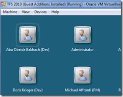 Máquina Virtual do TFS 2010 rodando sob Oracle VirtualBox