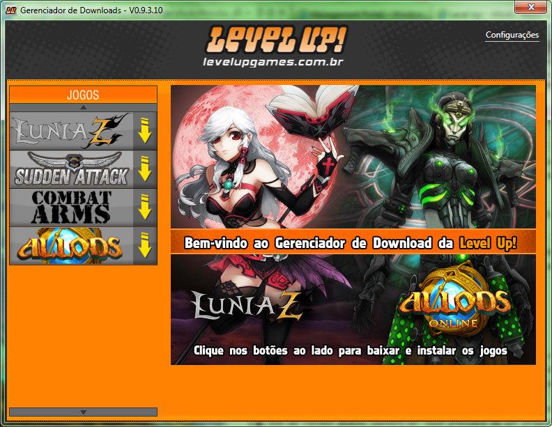 gerenciador de downloads level up grand chase