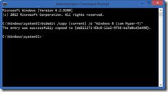 Criando uma nova opção de boot com bcdedit
