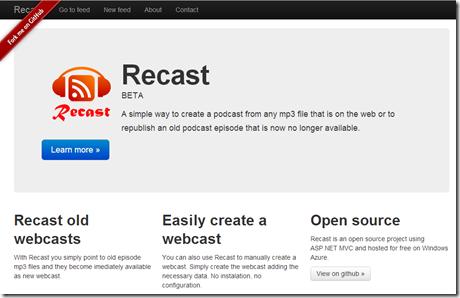 Site Recast