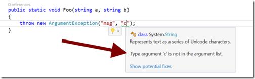 ArgumentException com problema no nome da variável