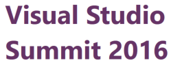 Visual Studio Summit 2016