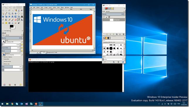 Gimp rodando no Windows 10
