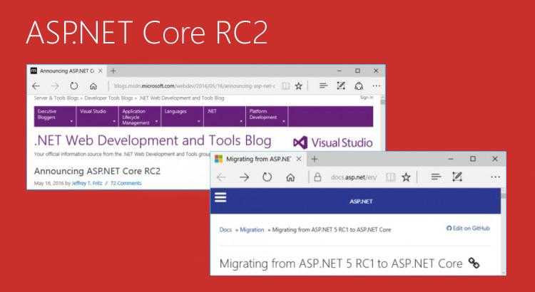 Migrando um projeto ASP.NET Core RC 1 para RC 2