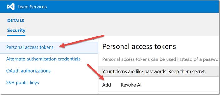 Configuração de Personal Access Tokens (PAT)