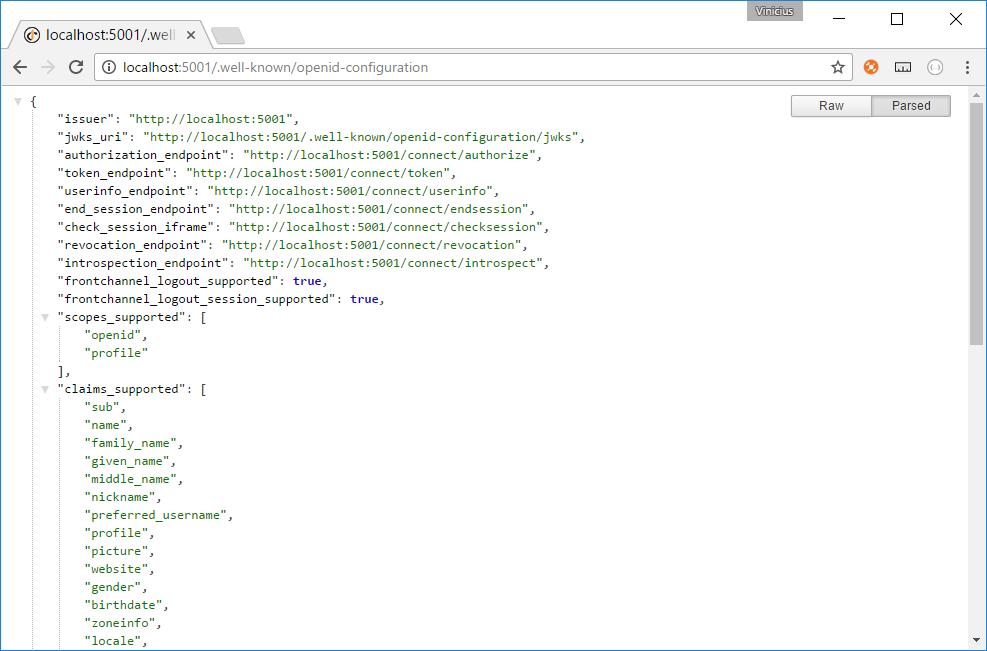 Servidor IdentityServer4 configurado