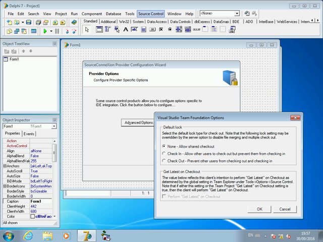 Configurando o modelo padrão de bloqueio de arquivos do TFS