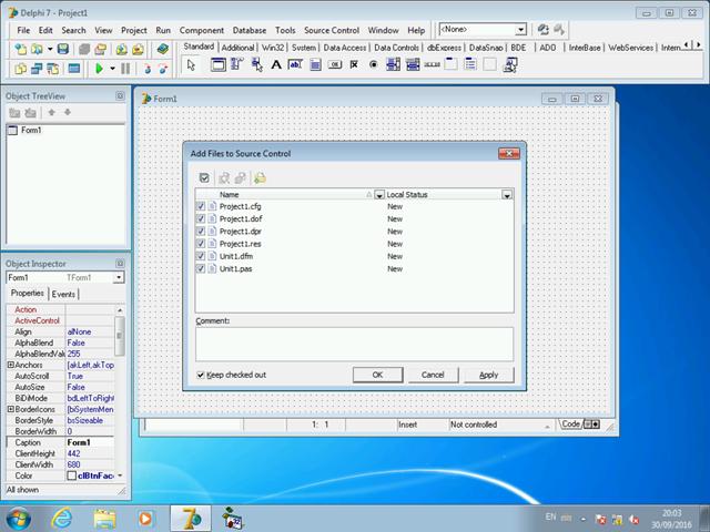 Indicando quais arquivos de projeto devem ser adicionados ao controle de versão