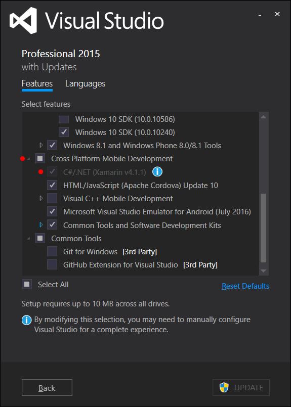 Adicionar Xamarin ao Visual Studio 2015