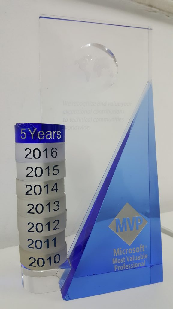 Troféu do programa MVP