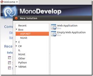Boo no Monodevelop do Ubuntu