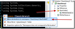 R# renomeando namespaces