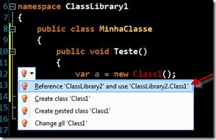 R# adicionando uma referência automaticamente
