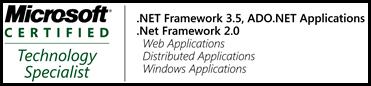 Sou MCTS para .Net 3.5