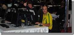 Godinho e Condé esperando pra perder pra mim no GeekFest