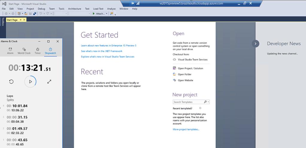 """Testamos o tempo de instalação do Visual Studio """"15"""""""
