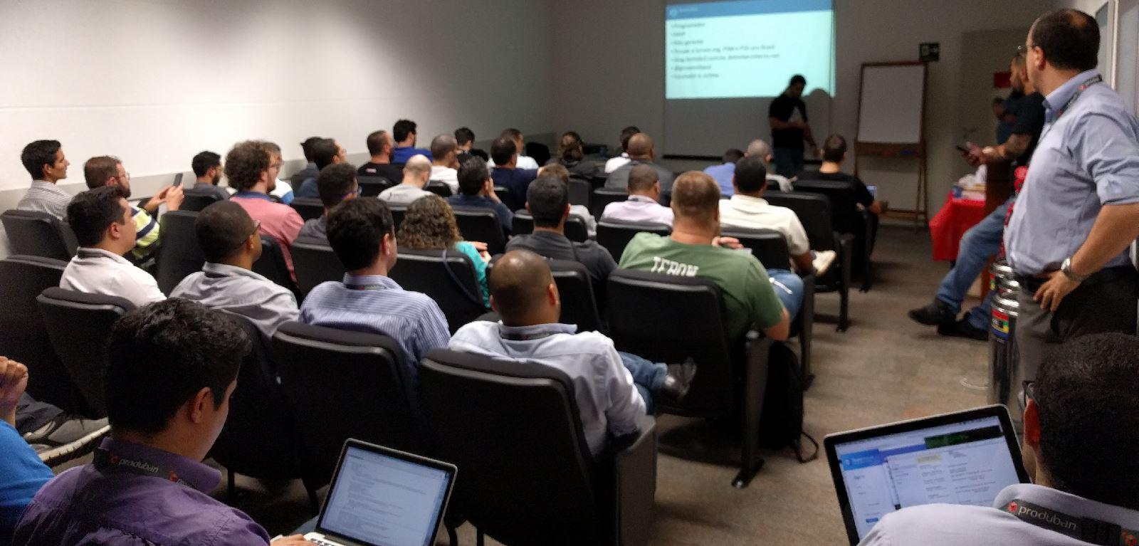 Palestra sobre Build e Release pipeline com Docker no Meetup de Docker de São Paulo