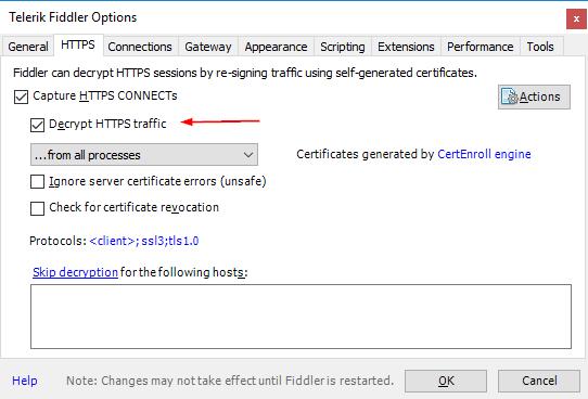 fiddler decrypt HTTPS