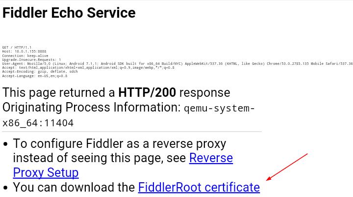 certificado Fiddler