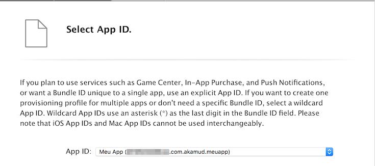 ios provisioning profile app id