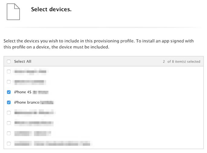 ios provisioning profile devices