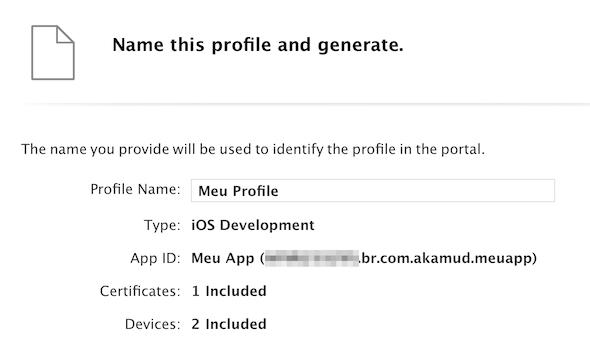 ios provisioning profile nome