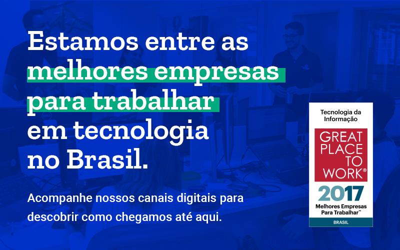A Lambda3 é a 5ª melhor pequena empresa para se trabalhar em tecnologia no Brasil