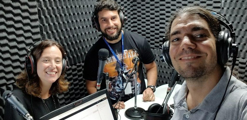 Patricia, José e Giovanni no estúdio