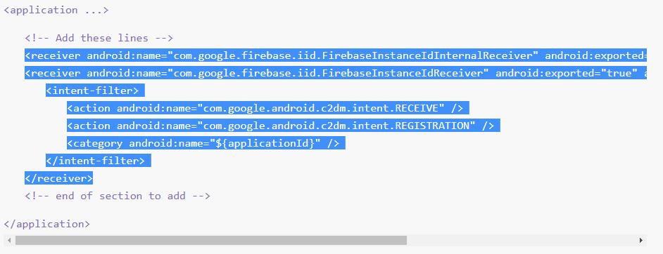 selecionando o codigo fonte no app center