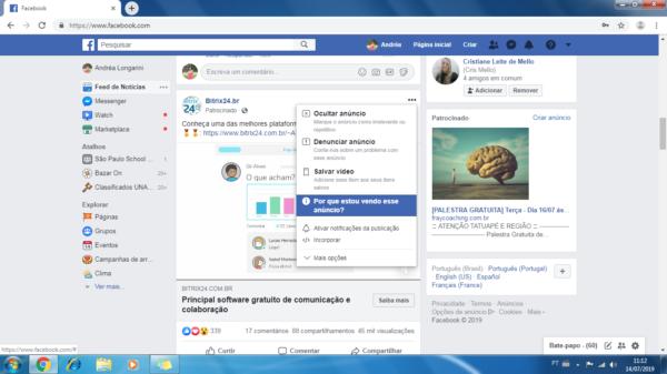 Como descobrir suas informações no facebook?