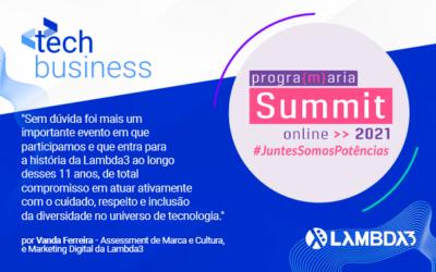 Conheçam as mulheres da Lambda que brilharam e levaram muita inspiração para o PrograMaria Summit 2021